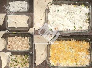 آشپزخانک-انچیلادای گوشت و لوبیا (مکزیکی)-آموزش تصویری