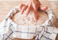 تست خمیر نان با انگشت