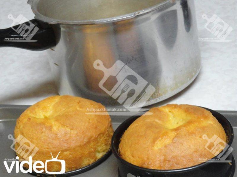 آشپزخانک کیک اسفنجی بدون فر - آشپزخانک