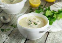 سوپ مرغ یونانی