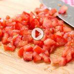 چطور گوجه فرنگی را خرد کنیم؟