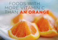 ۹ ماده غذایی که بیشتر از پرتقال ویتامین C دارند.