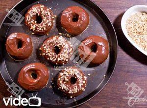 آشپزی-دونات-دونات در فر با گِلِیز شکلات-آشپزخانک