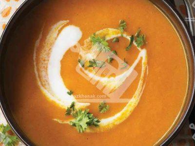 سوپ هویج و پرتقال