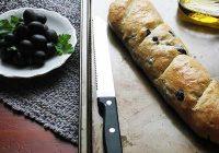 نان فرانسوی با زیتون و آویشن