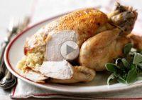 چگونه مرغ شکم پر را بپیچیم؟