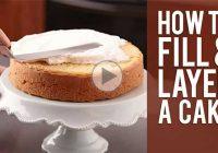 چگونه کیک را لایه ای برش دهیم و فیلینگ کنیم؟