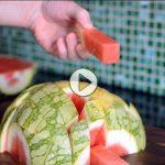 چطور هندوانه را برش دهیم؟