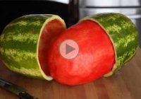 چگونه هندوانه را کامل پوست کنیم؟!
