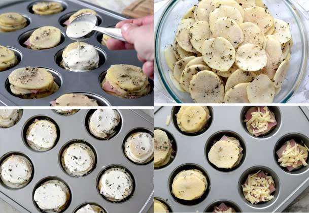 آموزش تصویری استاکس سیب زمینی و ژامبون-آشپزی-آشپزخانک