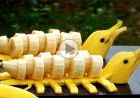چگونه موز را به شکل دلفین درست کنیم؟