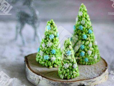 درخت کریسمس شکلاتی با گندمک