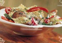 راویولی پستو با مرغ