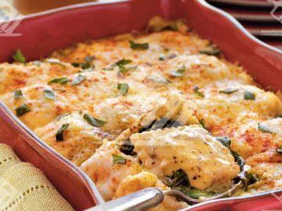 راویولی گوشت با پنیر و اسفناج
