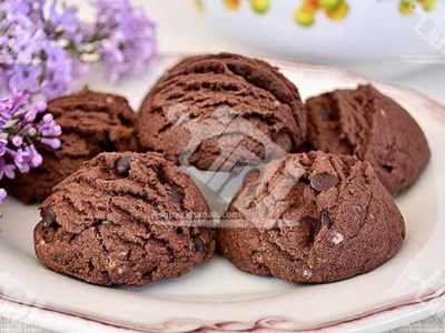 شیرینی کاکائویی به شکل بستنی