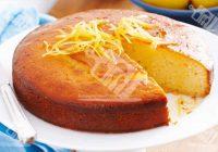 کیک ماست لیمویی با شربت