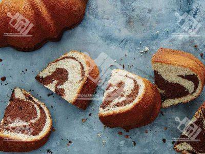 کیک پوند دو رنگ