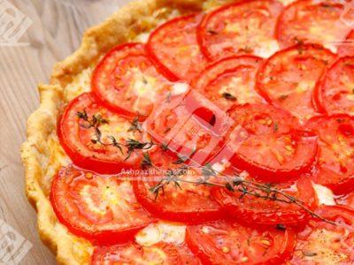 تارت گوجه و پنیر