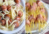 اسپاگتی با هات داگ