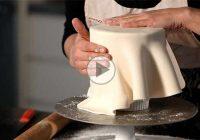 چگونه کیک را با خمیر فوندانت کاور کنیم؟