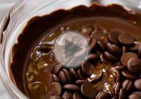 چگونه شکلات را در مایکروویو ذوب کنیم؟