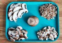 چگونه قارچ را اسلایس و خرد کنیم؟