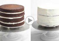 چگونه کیک را با خامه روکش کنیم؟
