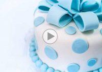 چگونه کیک را با فوندانت تزیین کنیم؟