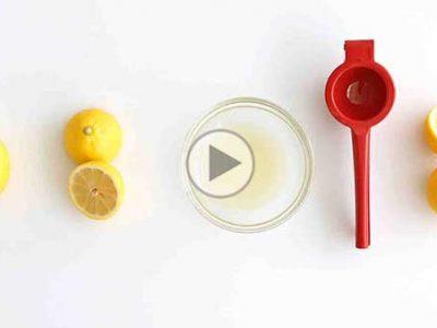 چگونه آب لیموترش را راحت بگیریم؟