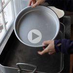 چگونه از روش حمام آب برای تهیه چیزکیک استفاده کنیم؟