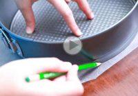 چگونه در قالب کمربندی کاغذ روغنی پهن کنیم؟