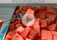 چگونه هندوانه را به صورت مکعبی برش دهیم؟