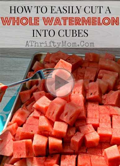 چگونه هندوانه را به صورت مکعبی برش دهیم؟-مدرسه آشپزی آشپزخانک