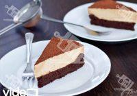 کیک شکلاتی بدون آرد با موس قهوه