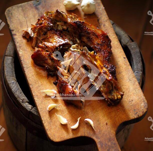 گوشت بره رست شده
