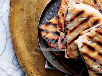 برگر گوشت با نان پیتا