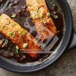 ماهی سالمون با سس بالزامیک