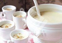 سوپ تره فرنگی و گل کلم خامه ای