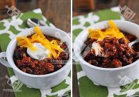 خوراک لوبیا سیاه چیلی
