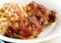 مرغ باربیکیو با سالاد کلم