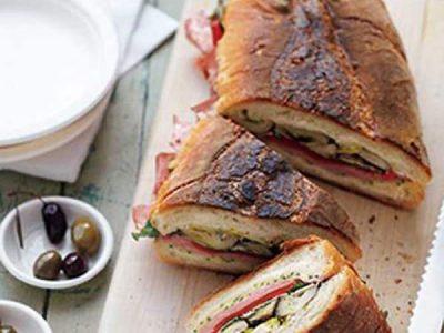 مینی ساندویچ لوبیا و ژامبون