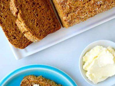 نان کدو حلوایی و موز