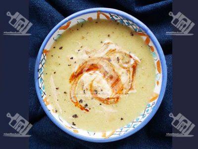 سوپ ذرت با خامه ترش