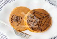 پنکیک کدو حلوایی با تم هالووین