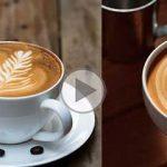 چگونه بر روی کافه لاته با شیر، شکل ایجاد کنیم؟