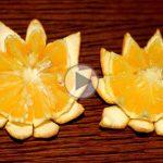 چگونه پرتقال را به شکل گل تزیین کنیم؟