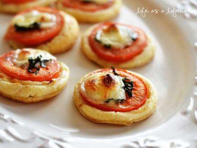 مینی تارت گوجه فرنگی و پنیر