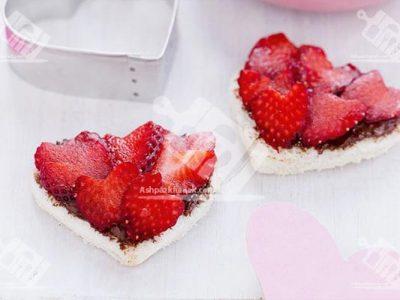 قلب های شکلاتی با نان تست