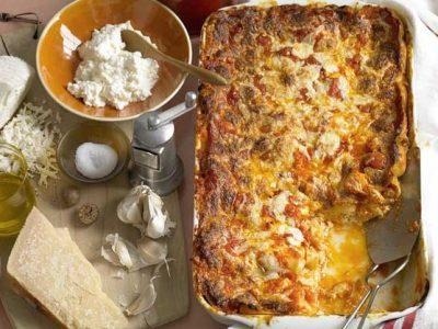 لازانیای پنیر کلاسیک