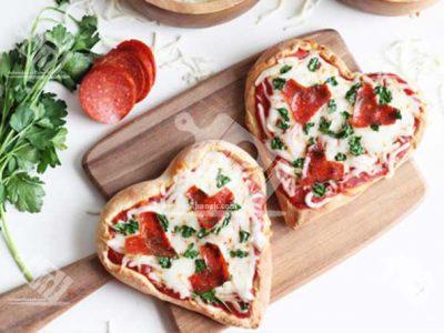 پیتزا قلبی مخصوص ولنتاین